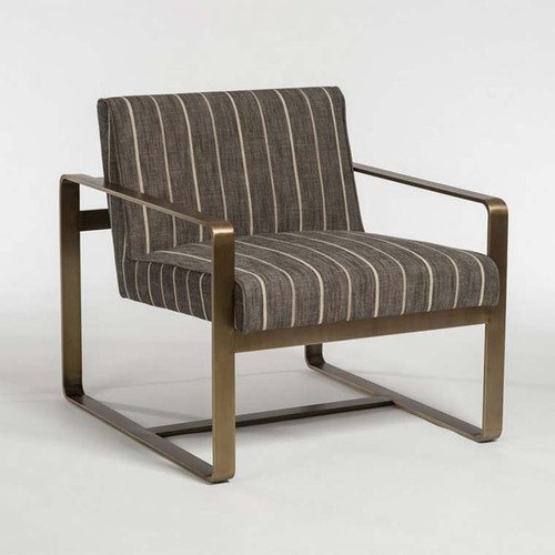Empire Occasional Chair, Alder & Tweed Furniture, rectilinear metal chair