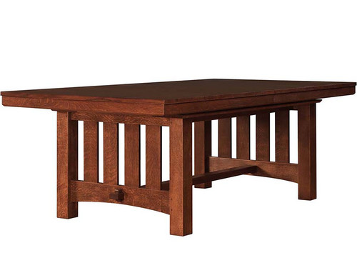 Stickley Grande Trestle Dining Table, Mission