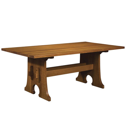 Stickley Keyhole Trestle Table