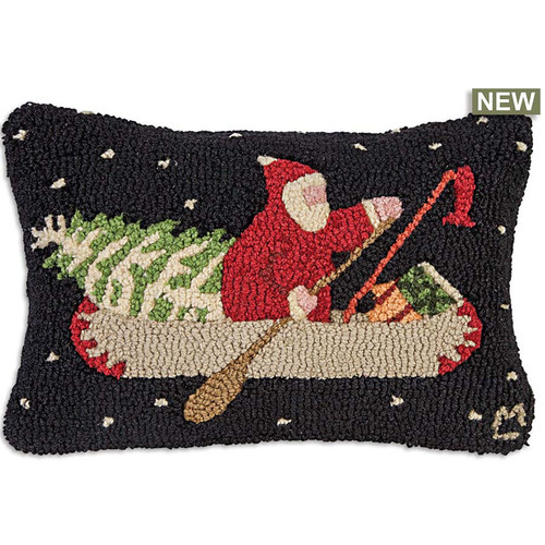 Chandler 4 Corners, Santa's Last Delivery, Hooked Wool Pillow