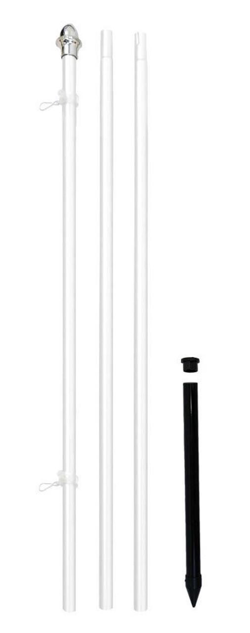 10' Flag Pole - White Aluminum