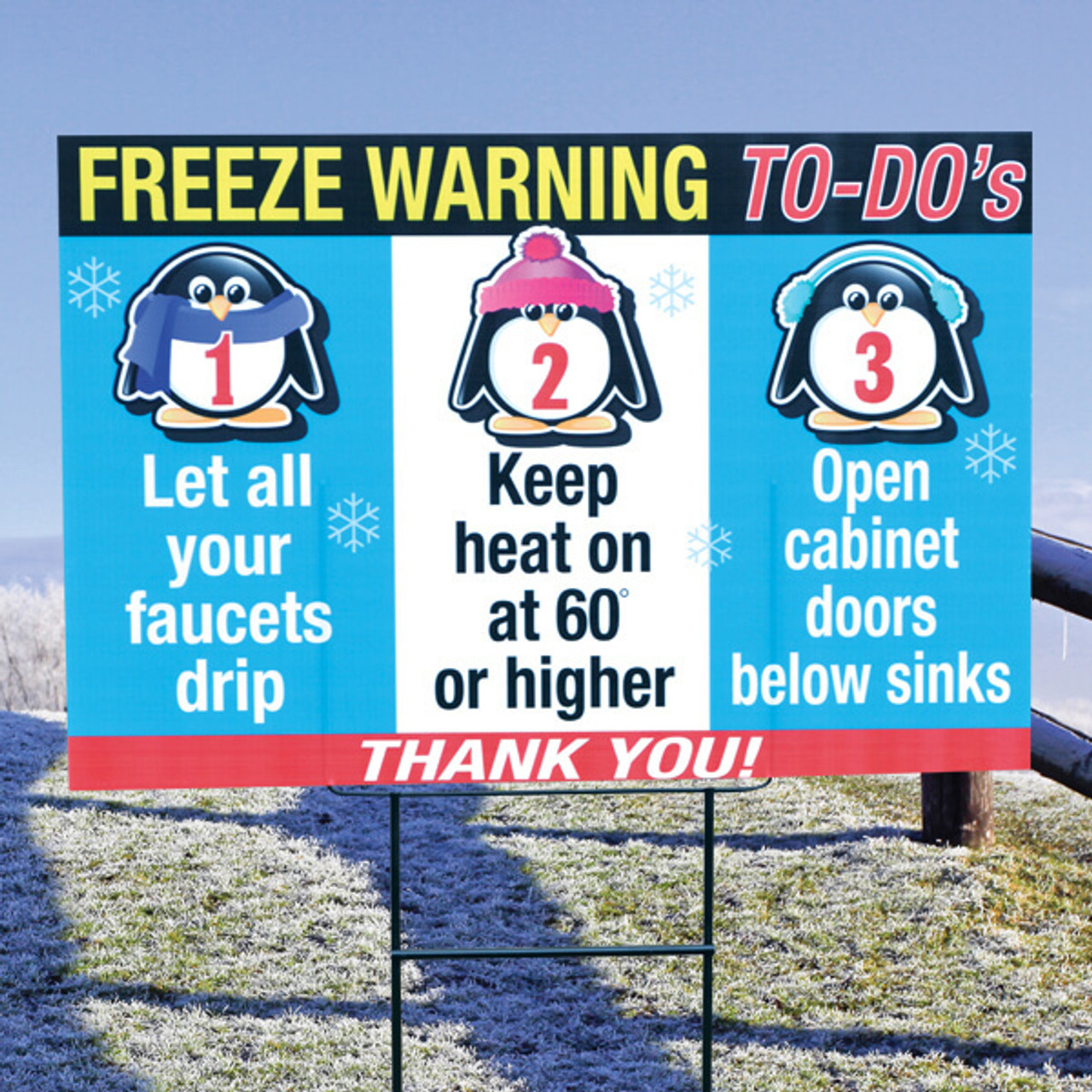 Freeze Warning - To-Do's
