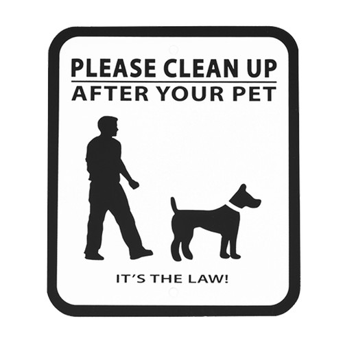 Sign -Clean Up (no leash)