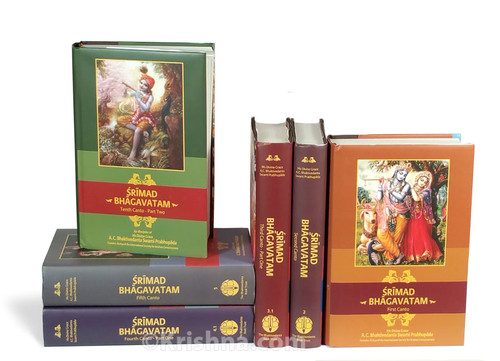 English Srimad Bhagavatam, 18 Volume Set, India Edition