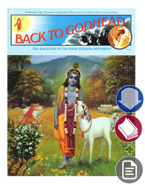Back to Godhead Issue, Vintage 1974, Vol 1 No 65, Download