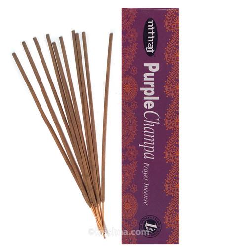 Nitiraja Purple Champa, Prayer Incense, 25 Grams