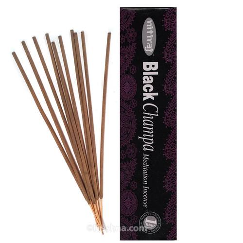 Nitiraja Black Champa, Meditation Incense, 25 grams