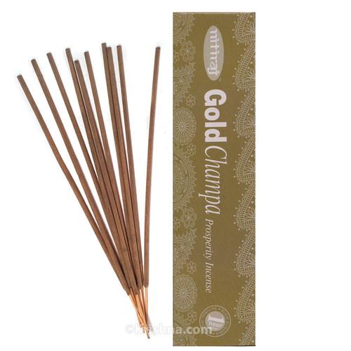 Nitiraja Gold Champa, Prosperity Incense, 25 grams
