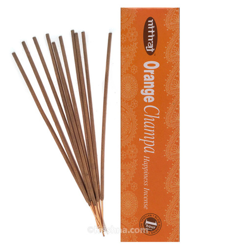 Nitiraja Orange Champa, Happiness Incense, 25 grams
