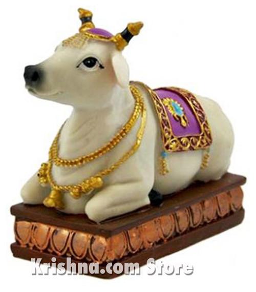 "Surabhi Cow Figurine, 5"""