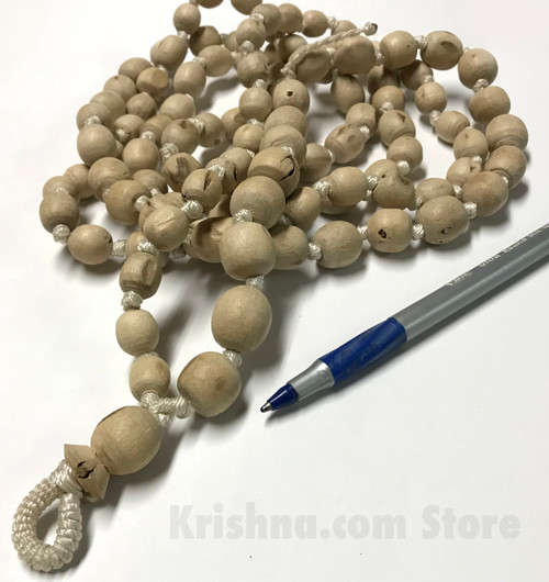 Deluxe Tulasi Japa Mala Beads, X-Large, Smooth, Round