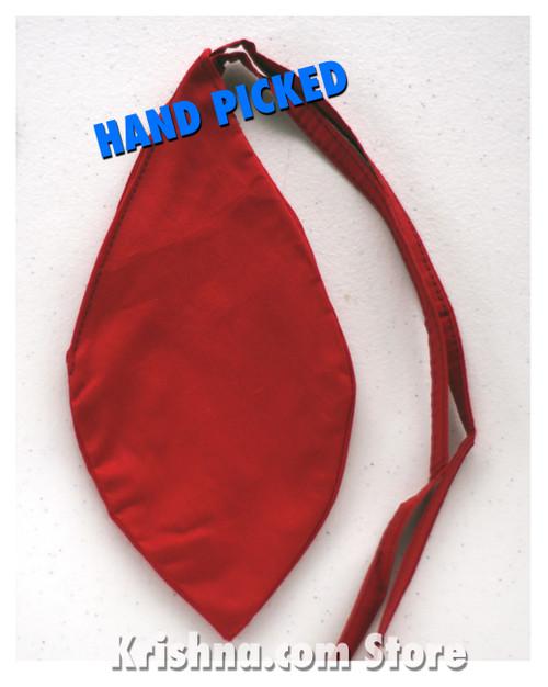Medium Cotton Bead Bag, Candy Apple Red