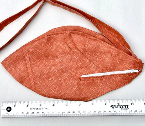 Medium Cotton Bead Bag  w/ Zipper, Brown