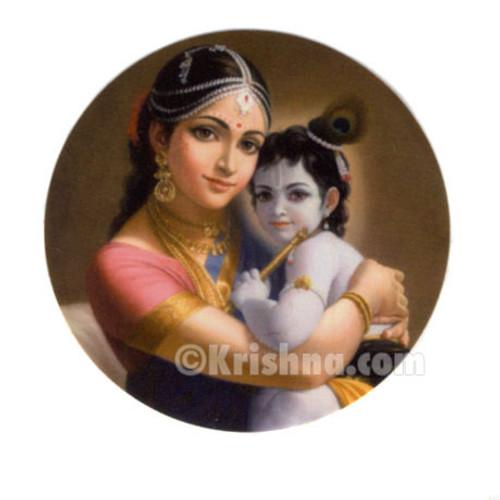 Mother Yashoda & Baby Krishna Stickers, 10 Pack