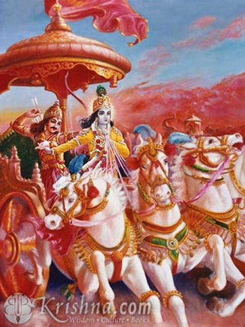 "Classic Krishna and Arjuna Photo Print, 8""x10"""