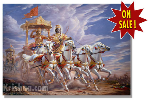 Krishna the Charioteer Poster, Small
