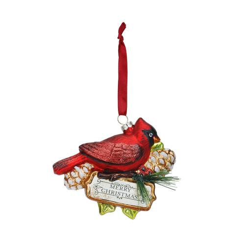 Blown Glass Cardinal Ornament