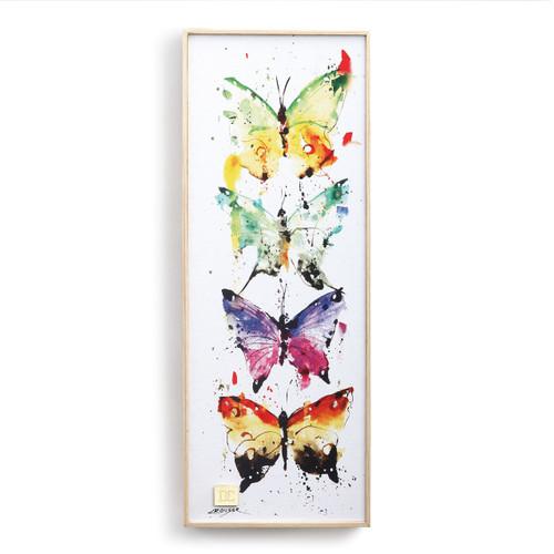 Four Butterflies Wall Art