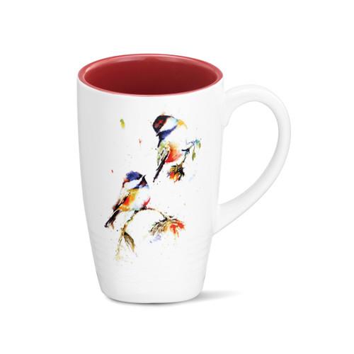 Chickadees Dropping In Latte Mug
