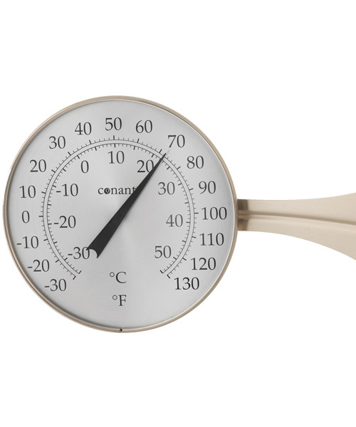 Large Dial Thermometer Satin Nickle