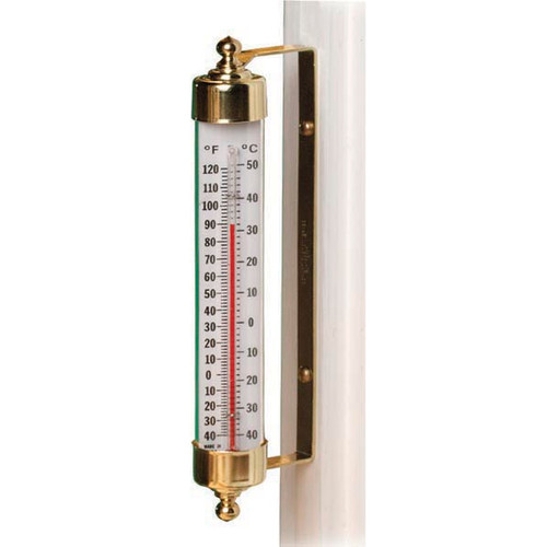 VT Outdoor Thermometer Brass
