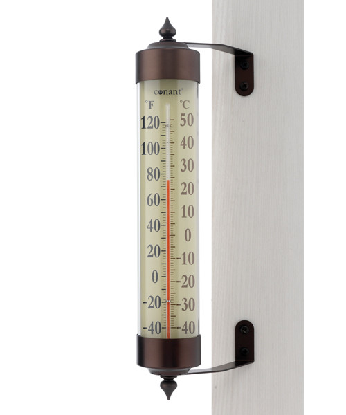 Grande View Thermometer Bronze Patina