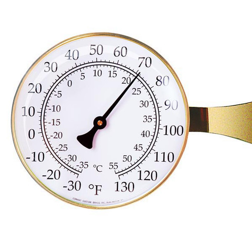 VT Large Dial Thermometer Brass