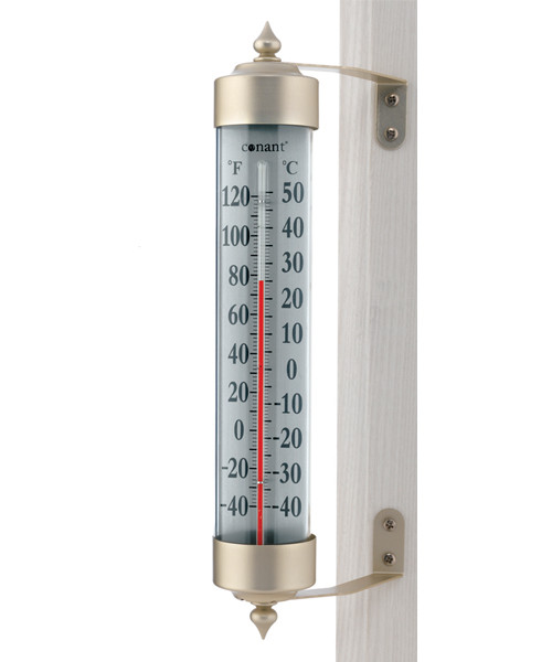 Grande View Thermometer Satin Nickle