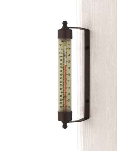 Indoor Outdoor Thermometer Bronze Patina