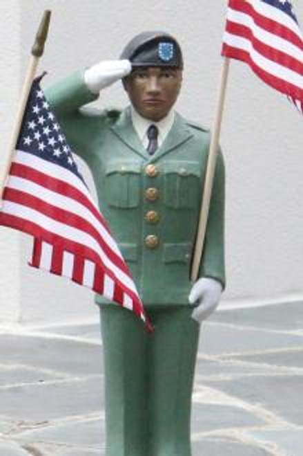Army Man Statue, detailed