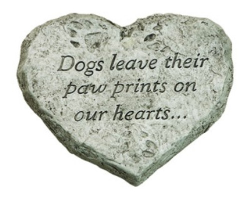 Heart Stone, Dogs Leave Paw Prints on our hearts.