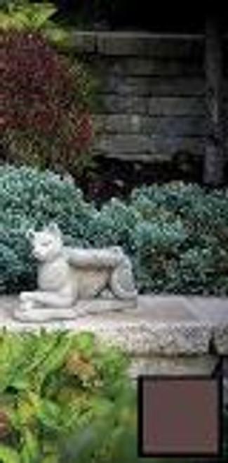 Guardian Cat Lying, Brown Finish