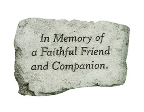 Stone, In Memory Of A Faithful Friend