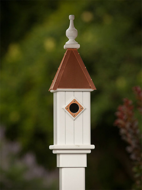 """6"""" Bluebird House with Copper Roof"""