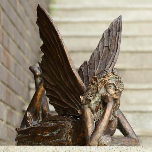 Fairy At Rest Garden Sculpture