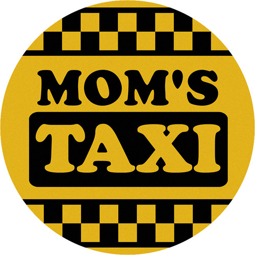 Mom's Taxi Car Coaster