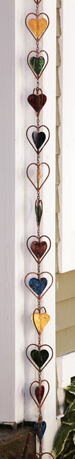 Multi Colored Heart Rain Chain