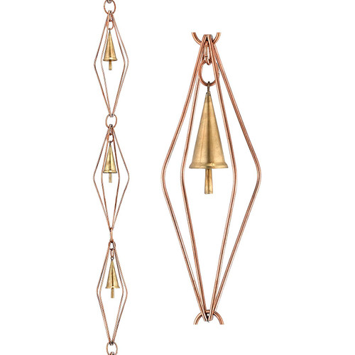 Diamond Copper Rain Chain