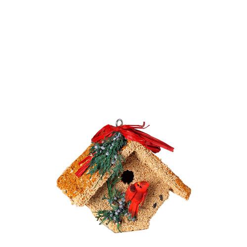 Wren Birdhouse With Cardinal