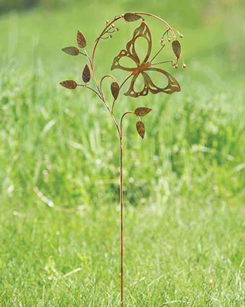 Butterfly On A Branch garden Stake