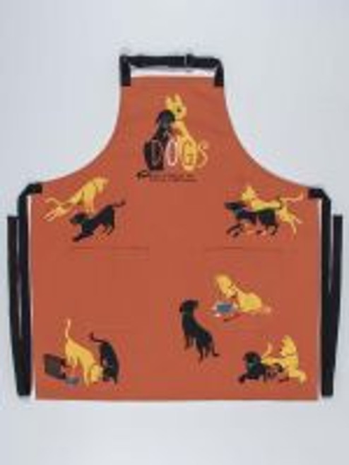 DOGS. HERE TO REMIND YOU THAT EVERYTHING IS VERY EXCITING APRON