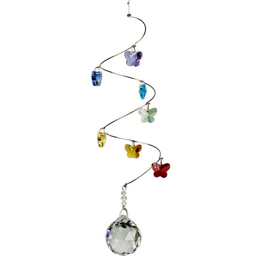 Crystal Spiral Butterfly Rainbow