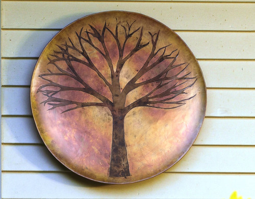 Flamed Copper Tree Disc