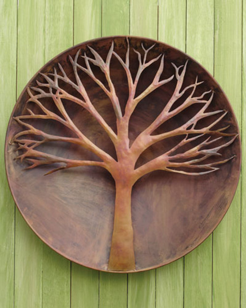 """Flamed Raised Tree Wall Disc 24"""""""
