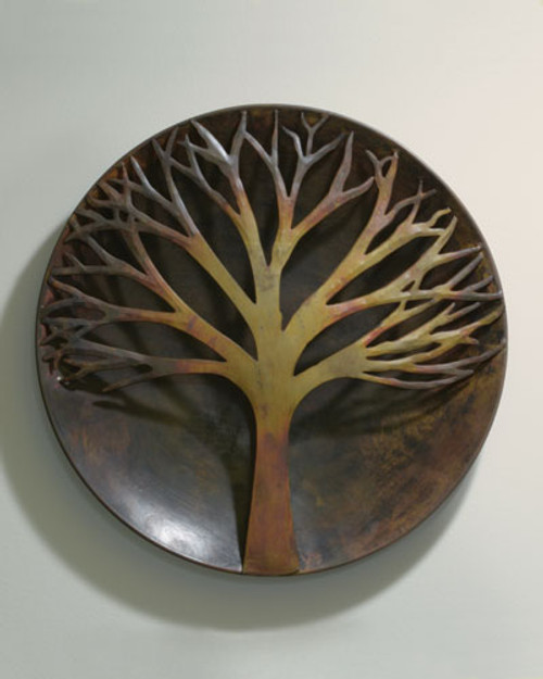 """Flamed Raised Tree Wall Disc 12"""""""