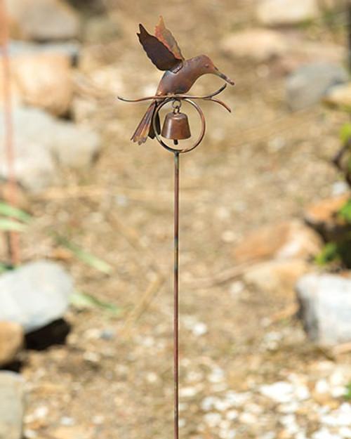 Flamed Hummingbird Garden Stake
