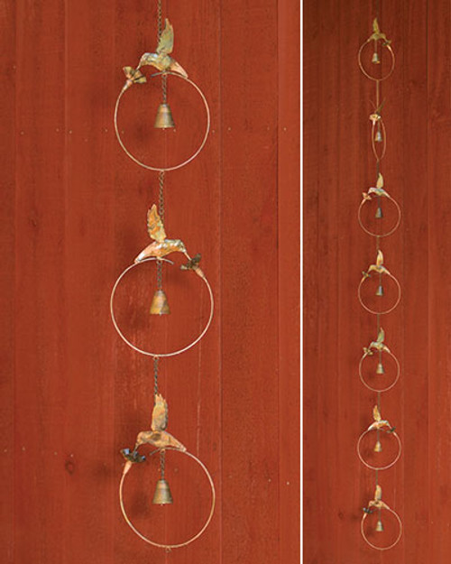 Flamed Hummingbird Rain Chain