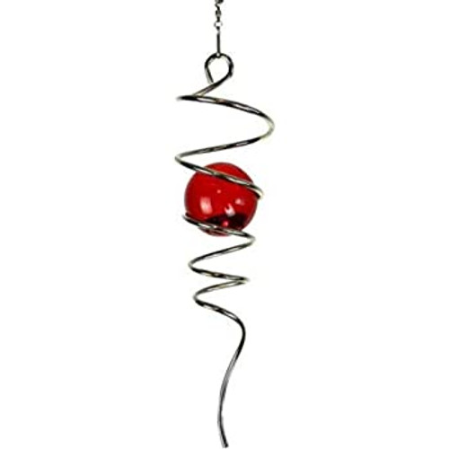 Spiral Tail Silver and Red