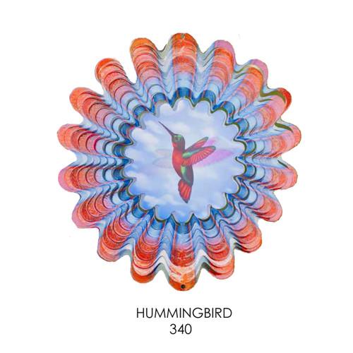 Animated hummingbird spinner