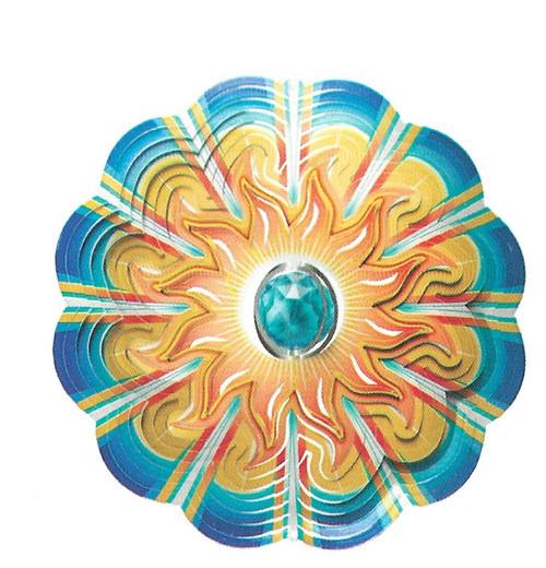 Crystal Aqua Sun Spinner